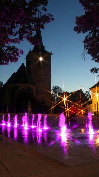 Brunnenmeisterei Weimar, Schreier, Sömmerda Marktbrunnen mit Power LED Ansteuerung