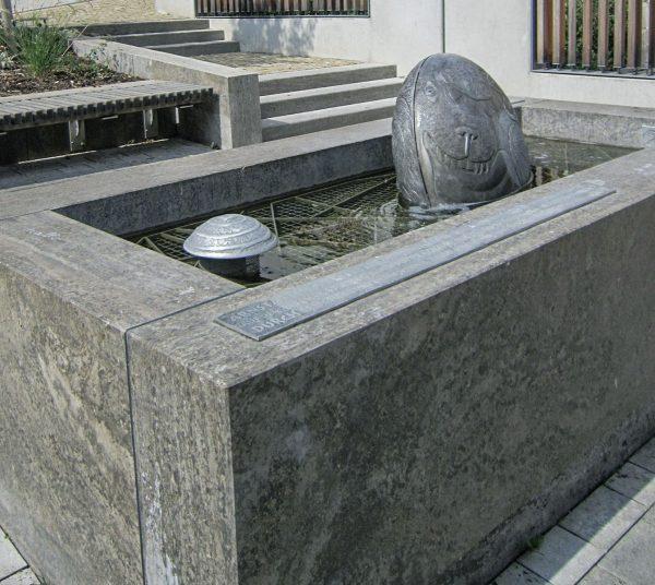 Arnstadt Marktstraße Hock auf Brunnen