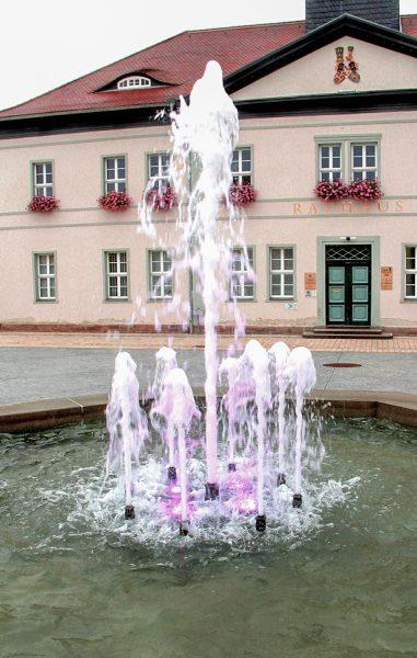 Bad Frankenhausen Marktbrunnen mit RGB-Power-Led`s