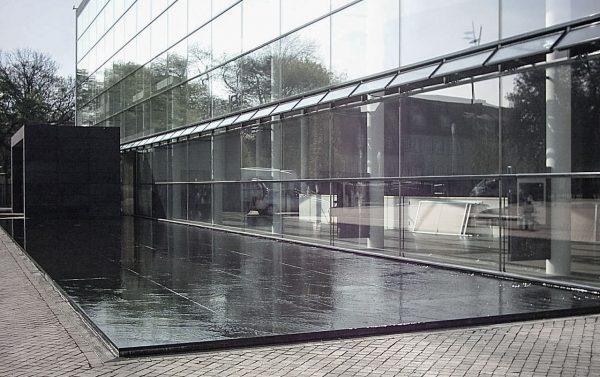 Erfurt Theaterbrunnen Wasserschräge