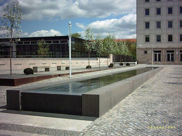 Erfurt Thüringer Landtag Wasserlauf