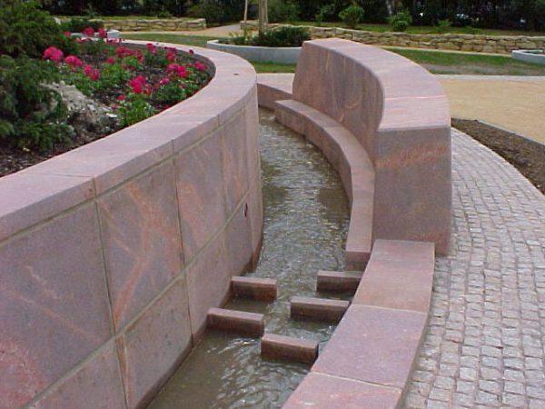 Jena Lobdepark mit einprogrammierten Wasserspiel