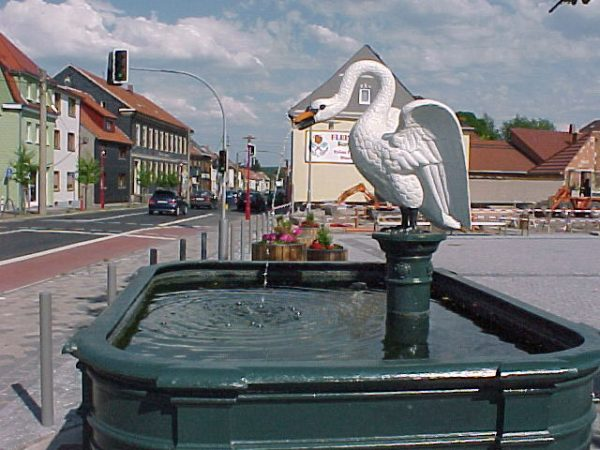 Langewiesen Markt Gussbrunnen, restauriert