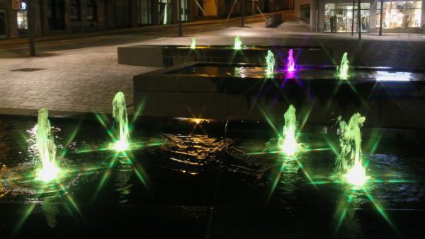 Schleiz Neumarkt mit RGB-Power-Led-Düsen