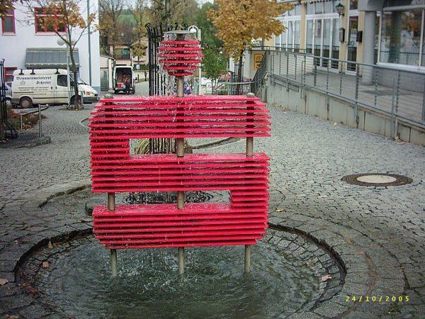 Schleiz Sparkassenbrunnen
