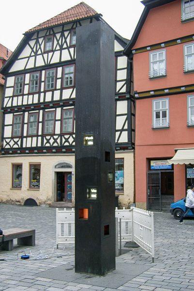 Schmalkalden Wettersäule Lutherplatz mit Nebelanlage
