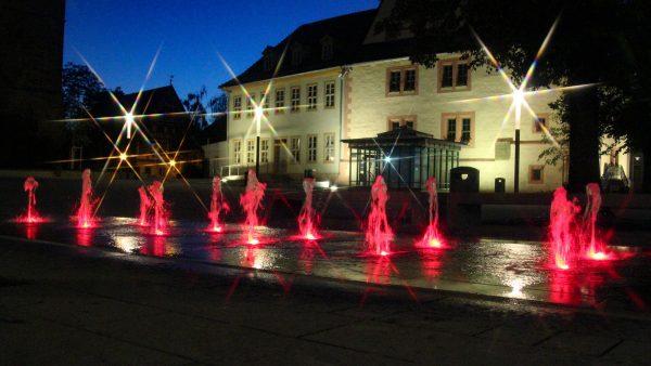 Sömmerda Marktbrunnen mit Power-LED Ansteuerung