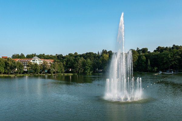 Bad Salzungen Burgsee Schwimmfontäne